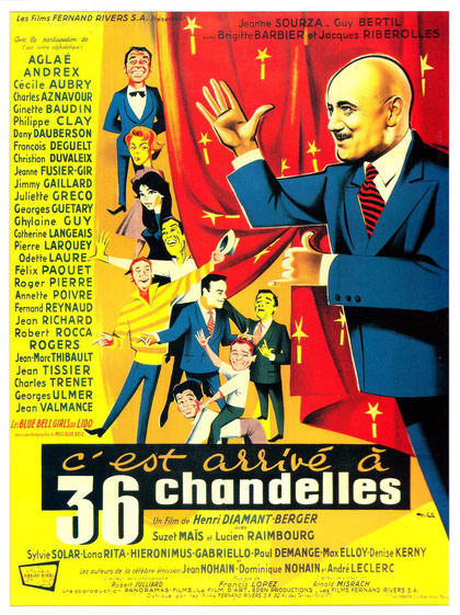 Affiche du film C'est arrivé à 36 chandelles de Henri Diamant-Berger 1957 avec Cécile Aubry