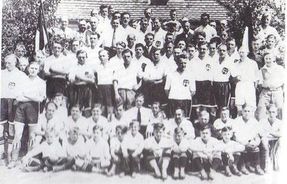 Die Abt.Fußball der Spielvereinigung Calau1926 (Foto:Archiv H.Jurisch)