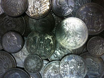 Silbermünzen & Silbermark des deutschen Kaiserreichs.