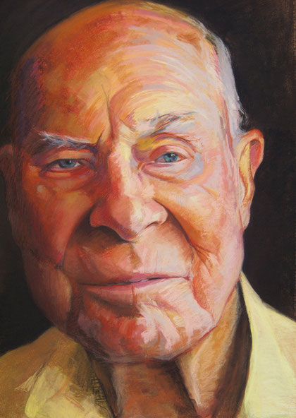 My Dad. Pastel on mi-teintes paper.