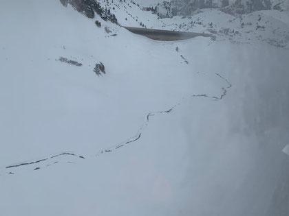 21. Februar 2020, Blick auf die Südmauer mit Alpbach