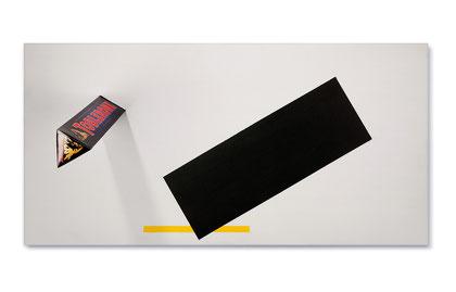 Toblerone-Komposition Nr. 74, Konsumverpackung, Acryl auf Holz, 50 x 80 cm, 2013