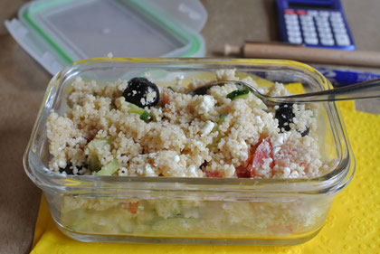 Couscous-Salat zum Mitnehmen