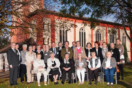 Die Jubilare und Jubilarinnen im Jahr 2014