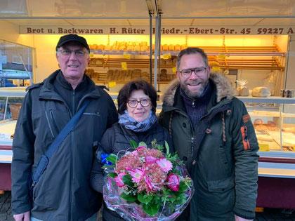 Ulrich und Hannelore Rüter mit Veranstaltungsmanager David Ruschenbaum - Foto: Werne Marketing