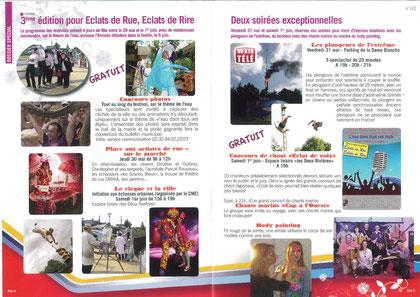 programme festival Eclats de Rue, Eclats de Rire Pavilly avec Chris' Music Production