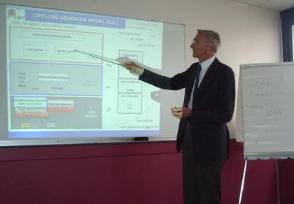 Il prof. Scortegagna a Lyon illustra ai partners europei le fasi del programma di lavoro