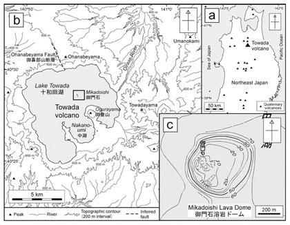 御門石の場所、御倉半島の先端にある。