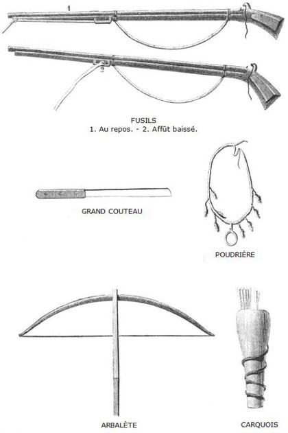 Desgodins (1826-1913), La mission du Thibet de 1855 à 1870. Fusils.