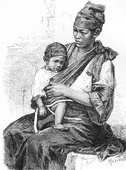 Femme et enfant pépohoans.