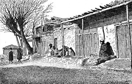 Entrée de Khotan du côté de Youroungkâch