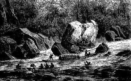 Halage sur la rivière de Kon-tchang