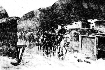 Arrivée à Tong-bou-mdo par la pluie