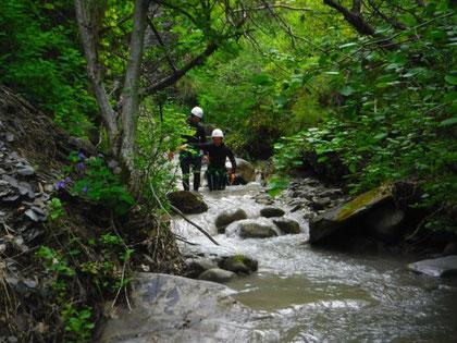 activité eau vive briançon, canyon, canyoning