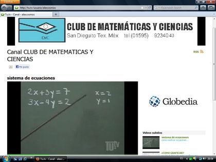 canal de el club de matematicas y ciencias