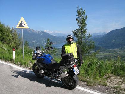 Am Kaiserjägerweg, hinter mir der Lago di Caldonazzo