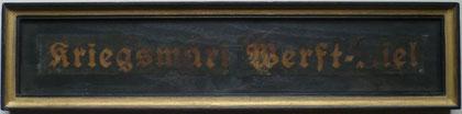 Mein Mützenband mit Brandspuren nach Bombenangriff 26./27.7.43, Kiel