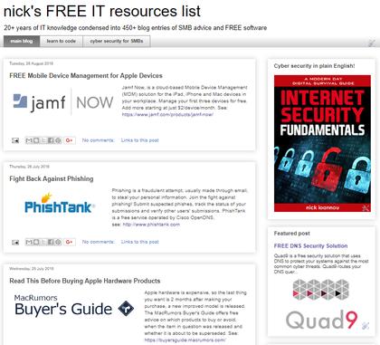 nick's IT resources blog