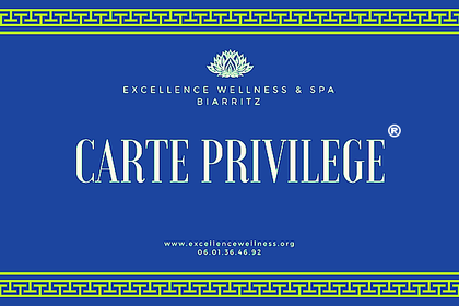 Carte privilege de massage Biarritz, massage duo détente, relaxation et bien etre.Excellence Wellness Spa.