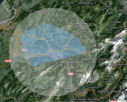 carte localisation thyez cluses zone marvays entreprise menuiserie serrurerie