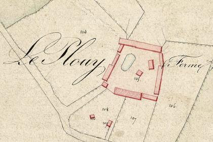 Plan cadastral de la ferme du Plouy, Domart en Ponthieu Somme