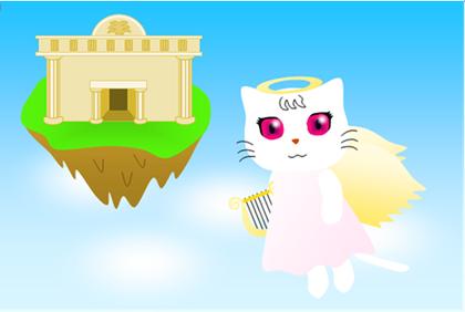7月のテーマ「ねこちゃんイラストコンテスト」~猫の天使さま~