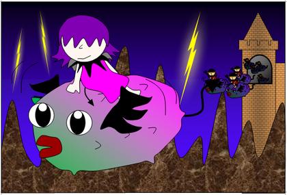 1月のテーマ「ファンタジーイラストコンテスト~魔界の王女と魔界のナマコ~