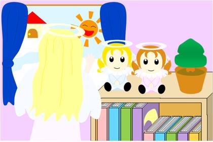 10月のテーマ「天使のイラストコンテスト」~天使の少女の部屋~