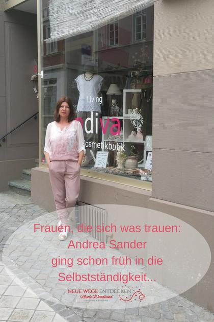 Andrea Sander vor ihrem Laden Andiva