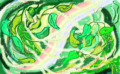 3a passeggiata - Il Soffio Divino - disegno di Wilma Camatti