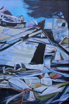 Tsunami, Acryl auf Leinwand, 150x100