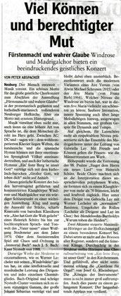Konzertkritik Neuburger Rundschau