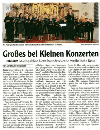Konzertkritik Neuburger Rundschau vom 21.06.2016