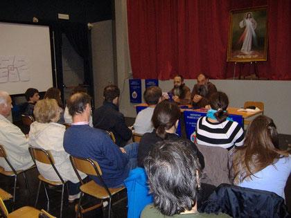 29 Settembre 2010 Padre Simone e Padre Franco che parlano agli annunciatori
