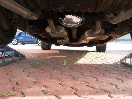 "Oldsmobile 98 Regency. 2,5"" Doppelrohrauspuffanlage mit ""H-pipe"", verchromter Diff-Deckel etc."