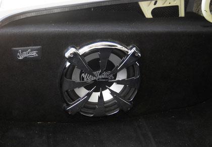 Original Westcoast Custom 32cm Lautsprecherbox im speziell angefertigtem Gehäuse