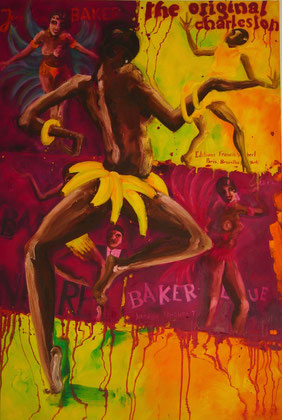 Josephine Baker Bal Negre146x97cm 2009 Oil on canvas.