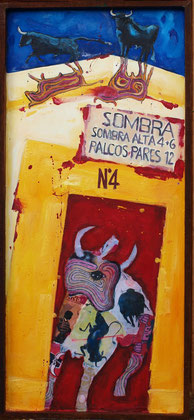 Sombra alta 2011 mixed media on panel 103x47cm AVAILABLE