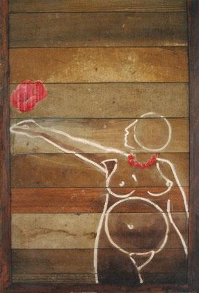 Amapola 2000 Mixed media on panel 97x63cm