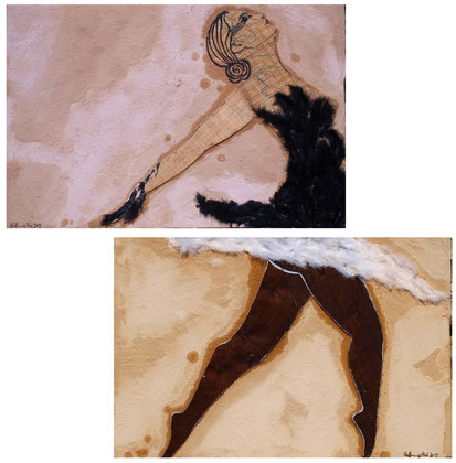 .Black Swan White Swan 2011 Panel,sand,oil on canvas 122x90cm Available