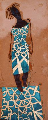 Arabian fashion2010 Oil,sand,panel on canvas.100x50cm AVAILABLE