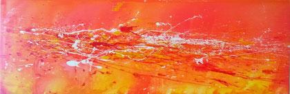 50 x 100 cm , 2014 , Felling red , Acryl auf Leinwand