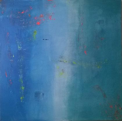 100 x 100 cm , 2014 , Acryl auf Leinwand , verkauft