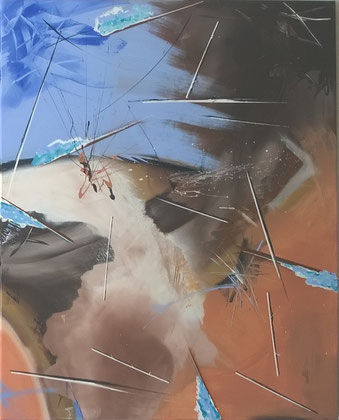 100 x 80 cm , 2015 , Acryl auf Leinwand
