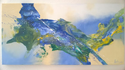50 x 100 cm , 2015 , Fluid auf Leinwand