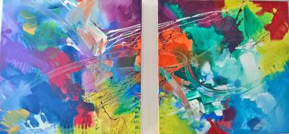 50 x 100 cm , 2014 , Acry auf Leinwand ( 2- teilig)