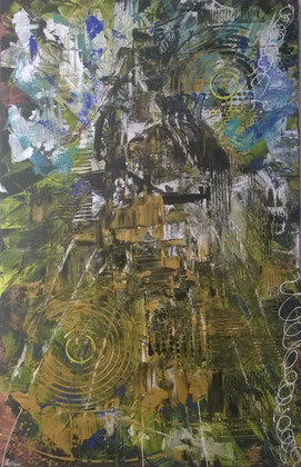 75 x 115 cm , 2014 , Acryl auf Leinwand
