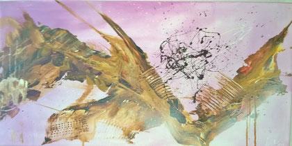 50 x 100 cm , 2015, Fluid auf Leinwand