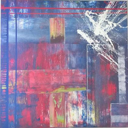 100 x 100 cm , 2015 , Acryl auf Leinwand
