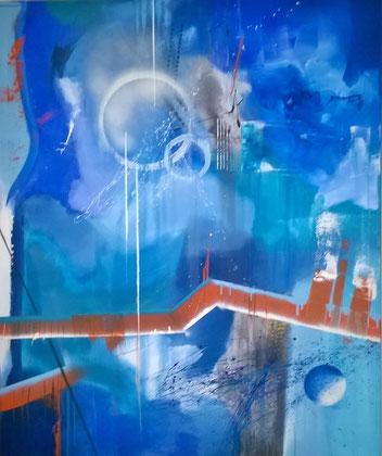 120 x 100 cm , 2015 , Acryl auf Leinwand